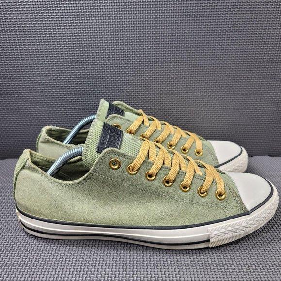 Mens Sz 9 Fatigue Green Converse Ox Low Top Sneake